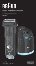 Braun Series 7-790cc, 790cc-3, 790cc-4, 790cc-5, 790cc-7,795cc-3, Limited Edition 2010, -2011, -2012, Porsche, Boss - 790cc-4, Series 7, limited motorsport edition KOR, UK