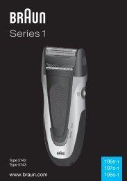 Braun Series 1, Series 3, SmartControl3, SmartControl Sportive, SmartControl Pro-340, 4775, 4875, 4876, 199s-1 - 199s-1, 197s-1, 195s-1, Series 1 RO