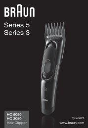 Braun Series 3 Hair clipper, Series 5 Hair clipper, CruZer5 head Hair clipper, Old Spice-HC3050, HC5050, CruZer5 Head, Old Spice - HC3050, HC5050, Hair Clipper, Series 3, Series 5 UK, FR, PL, CZ, SK, HU, HR, SI, TR, RO, BG, RU, UA, ARAB