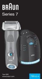 Braun Series 7-790cc, 790cc-3, 790cc-4, 790cc-5, 790cc-7,795cc-3, Limited Edition 2010, -2011, -2012, Porsche, Boss - 790cc-4, Series 7 UK, FR, ES, PT, IT, NL, DK, NO, SE, FI, TR, GR