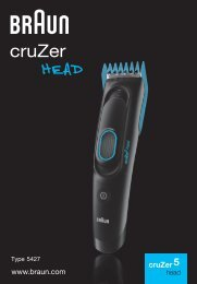 Braun Series 3 Hair clipper, Series 5 Hair clipper, CruZer5 head Hair clipper, Old Spice-HC3050, HC5050, CruZer5 Head, Old Spice - cruZer5 head DE, UK, FR, ES, PT, IT, NL, DK, NO, SE, FI, TR, GR