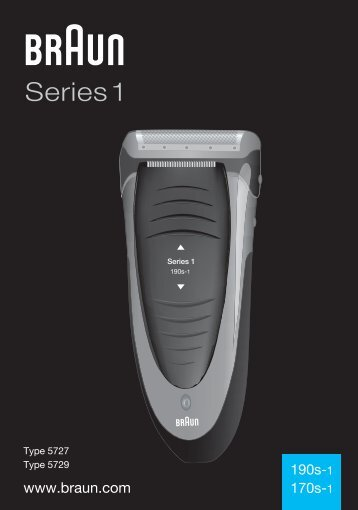 Braun Series 1, FreeControl-180 (for RU only),190, 190s-1, 1775 - 190s-1, 170s-1, Series 1 UK, LT, LV, EE