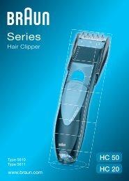 Braun Hair Perfect-HC50 - HC50, HC20, Hair Clipper/Hair Perfect UK, FR, PL, CZ, SK, HR, HU, TR, RO, RU, UA, ARAB