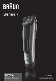 Braun cruZer6 beard&head, Beard Trimmer-cruZer6, BT 5070, BT 5090, BT 7050 - BT7050 Beard trimmer, Series 7 UK, FR, PL, CZ, SK, HU, HR, SL, TR, RO, MD, RU, UA, ARAB
