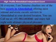 Ahmedabad Escorts service - Sunaina chauhan