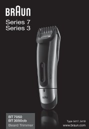 Braun cruZer6 beard&head, Beard Trimmer-cruZer6, BT 5070, BT 5090, BT 7050 - BT7050, BT3050cb, Beard trimmer, Series 7 DE, UK, FR, ES, PT, IT, NL, DK, NO, SE, FI, TR, GR