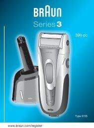 Braun Series 3, Contour-390cc, 5790, 5895, 5897 - 390cc, Series 3 DE, UK, FR, ES, PT, IT, NL, DK, NO, SE, FI, TR, GR