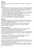 Braun SilkFinish, Exact Series Precision Trimmer, Bikini Styler, CruZer6 Precision-FG1000, FG1100, PT10, CruZer6 Precision - CruZer 6 high definition UK, FR, ES (USA, CDN, MEX) - Page 4
