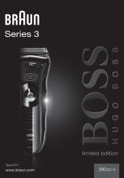 Braun Series 3-390cc-4, 390cc-5, 3090cc - 390cc-4, BOSS limited edition, Series 3 DE, UK, FR, ES, PT, IT, NL, DK, NO, SE, FI, TR, GR