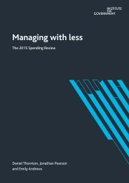 Managing with less