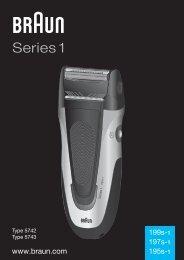 Braun Series 1, Series 3, SmartControl3, SmartControl Sportive, SmartControl Pro-340, 4775, 4875, 4876, 199s-1 - 199s-1, 197s-1, 195s-1, Series 1 UK, FR, PL, CZ, SK, HU, HR, SL, TR, RO, MD, RU, UA, ARAB