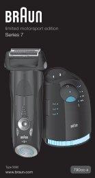 Braun Series 7-790cc, 790cc-3, 790cc-4, 790cc-5, 790cc-7,795cc-3, Limited Edition 2010, -2011, -2012, Porsche, Boss - 790cc-4, Series 7, limited motorsport edition DE, UK, FR, ES, PT, IT, NL, DK, NO, SE, FI, PL, CZ, SK, HU, HR, SL, GR
