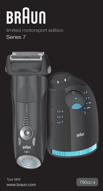Braun Series 7-790cc, 790cc-3, 790cc-4, 790cc-5, 790cc-7,795cc-3, Limited Edition 2010, -2011, -2012, Porsche, Boss - 790cc-4, Series 7 DE, UK, FR, ES, PT, IT, NL, DK, NO, SE, FI, TR, GR