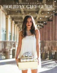 Labels & Vintage 2015 Holiday Gift Guide