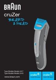 Braun cruZer6 beard&head, Beard Trimmer-cruZer6, BT 5070, BT 5090, BT 7050 - cruZer6 beard&head, cruZer5 beard&head UK, FR, ES (USA, CDN, MEX)