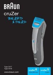 Braun cruZer6 beard&head, Beard Trimmer-cruZer6, BT 5070, BT 5090, BT 7050 - cruZer6 beard&head, cruZer5 beard UK, FR, PL, CZ, SK, HU, HR, SL, TR, RO, MD, RU, UA, ARAB