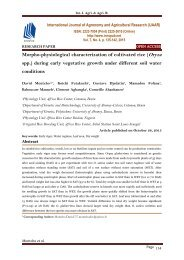 Morpho-physiological characterization of cultivated rice (Oryza spp. ) during early vegetative growth under different soil water conditions