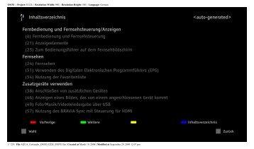 Sony KDL-46W5830 - KDL-46W5830 Istruzioni per l'uso Tedesco