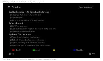 Sony KDL-46W5840 - KDL-46W5840 Istruzioni per l'uso Turco