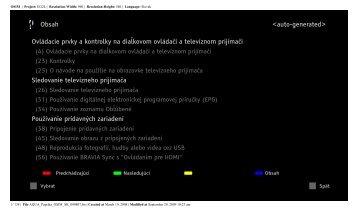 Sony KDL-52Z5800 - KDL-52Z5800 Istruzioni per l'uso Slovacco
