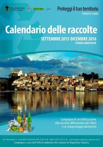 Calendario delle raccolte