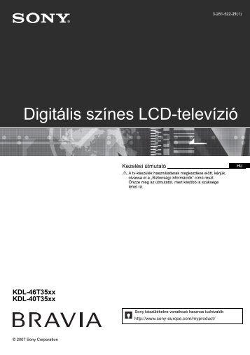 Sony KDL-40T3500 - KDL-40T3500 Istruzioni per l'uso Ungherese
