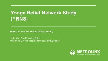 Yonge Relief Network Study (YRNS)