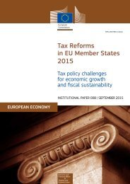 Tax Reforms in EU Member States 2015