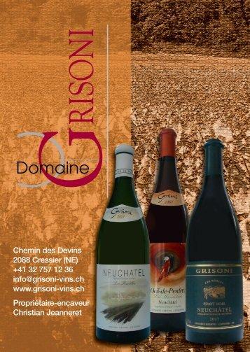 70 ans de passion pour le terroir - Domaine Grisoni