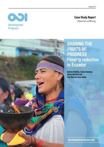 Poverty reduction in Ecuador