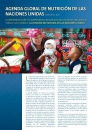 Agenda Global de Nutrición de las Naciones Unidas La