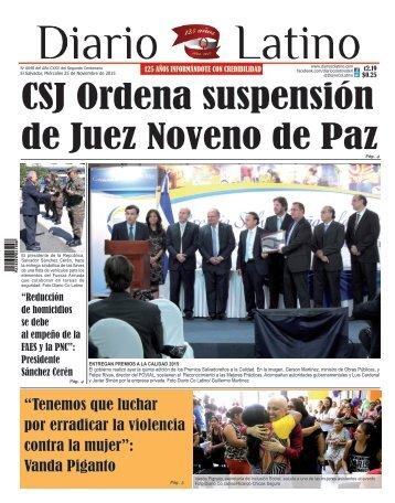 Edición 25 de Noviembre de 2015