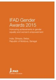 IFAD Gender Awards 2015