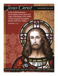 Current Bulletin - Our Lady of Sorrows Parish