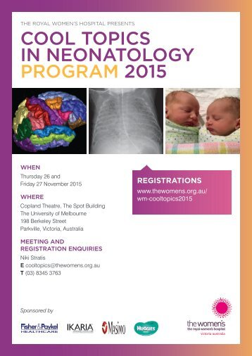 COOL TOPICS IN NEONATOLOGY PROGRAM 2015