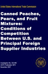 Canned Peaches, Pears, and Fruit Mixtures - United States ...