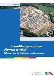 Investitionsprogramm Abwasser NRW