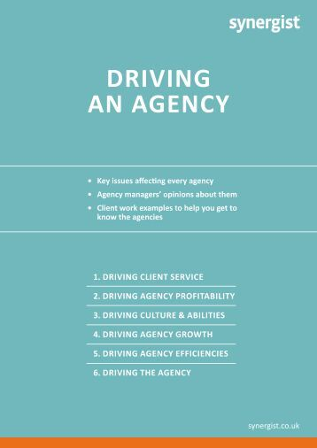 DRIVING AN AGENCY