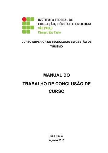 MANUAL DO TRABALHO DE CONCLUSÃO DE CURSO