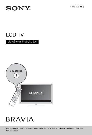 Sony KDL-55HX750 - KDL-55HX750 Istruzioni per l'uso Lettone