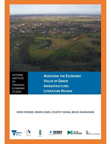 ASSESSING ECONOMIC VALUE GREEN INFRASTRUCTURE LITERATURE REVIEW