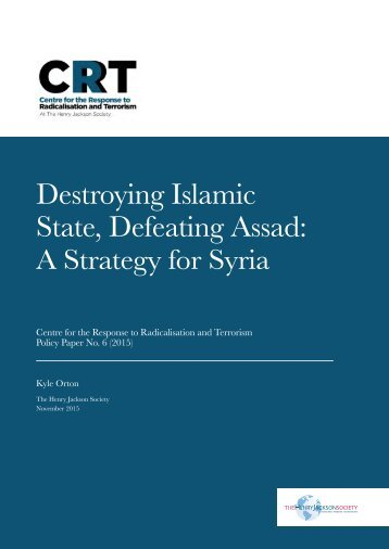 Destroying Islamic State Defeating Assad