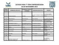 LISTADO PARA 7° FERIA EMPRENDEDORA 26 DE NOVIEMBRE 2015
