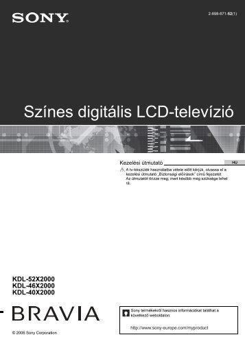 Sony KDL-52X2000 - KDL-52X2000 Istruzioni per l'uso Ungherese