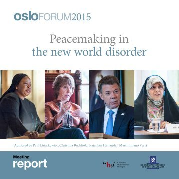 Peacemaking in the new world disorder