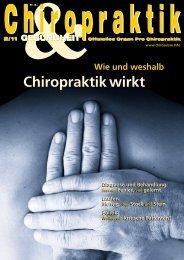 Chiropraktik wirkt - Rückenzentrum Wädenswil
