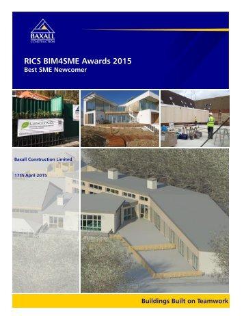 RICS BIM4SME Awards 2015