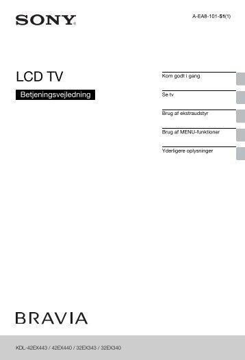 Sony KDL-42EX443 - KDL-42EX443 Istruzioni per l'uso Danese