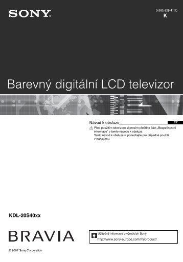 Sony KDL-20S4000 - KDL-20S4000 Istruzioni per l'uso Ceco