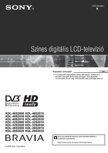 Sony KDL-32S2030 - KDL-32S2030 Istruzioni per l'uso Ungherese